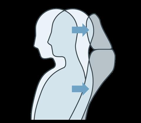 Ghế có cấu trúc giảm chấn thương cổ